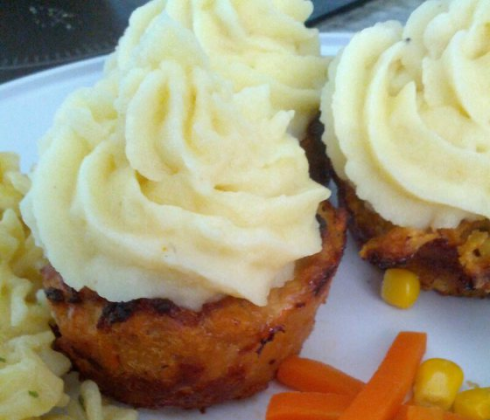 Shitty photo of Meatloaf Cupcakes